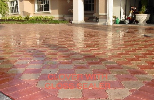 cast concrete pavers