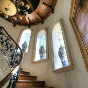 beautiful interior cast stone window casings and trim work, window surrounds