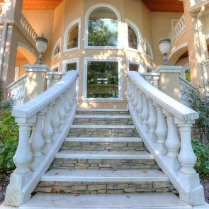cast stone balusters with steps