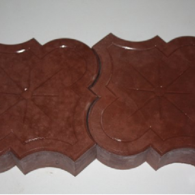 clover cast concrete paver shape and pattern