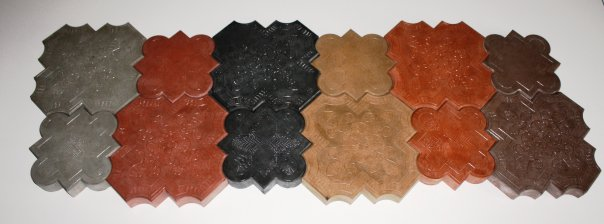 cast concrete paver color selection