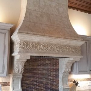 The Milania cast stone range hood