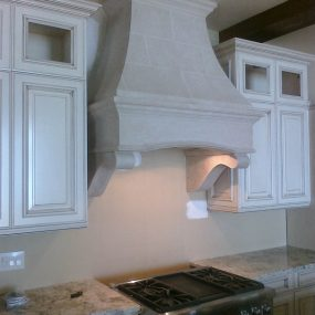 Vermont with Tuscany Corbels Stone Range Hood